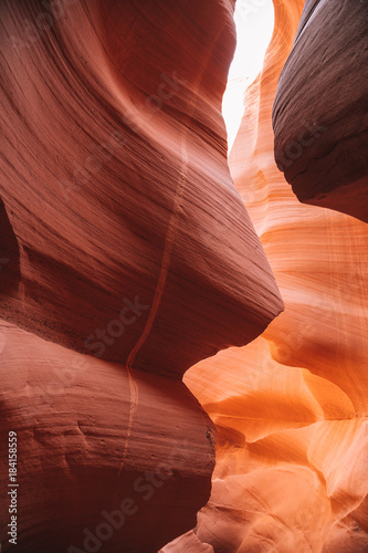 Fotobehang Rood paars Antelope Canyon in the Navajo Reservation near Page, Arizona USA