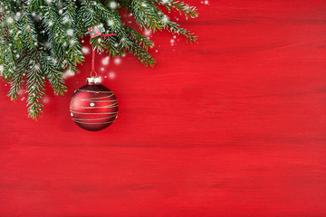 Red Christmas background wi...