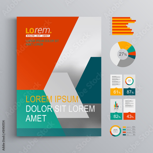 Brochure Template Design Canvas Print
