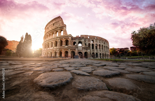 Fényképezés Beautiful colosseum in Rome