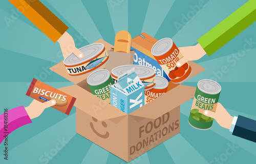 Fotografie, Obraz  Food Drive Donation Box