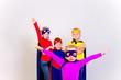 Superheroes kids friends