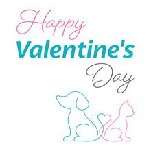 Happy Valentine Card Cute Cat ...