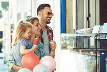 Happy Family Eating Ice-Cream
