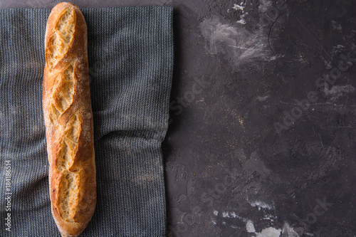 French fresh baguette. Canvas Print