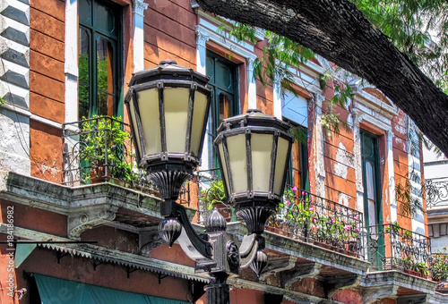 Keuken foto achterwand Buenos Aires Traditional building facades in San Telmo neighborhood in Buenos Aires, Argentina.