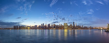 Skyline Of New York In Dawn