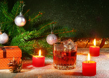 Christmas Decoration With Glas...