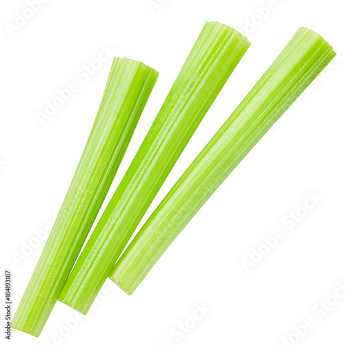 Fotografia  celery isolated on white background, clipping path, full depth of field