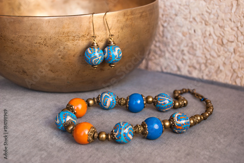 Fotografie, Obraz  Jewelry set in oriental style