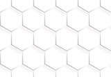 Seamless pattern of hexagons - 184203131