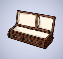 Coffin. Vector Drawing