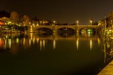 Bridge, Panorama Of Turin At S...