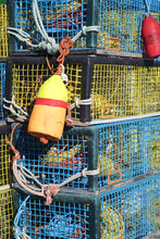 Colorful Lobster Traps With Ny...
