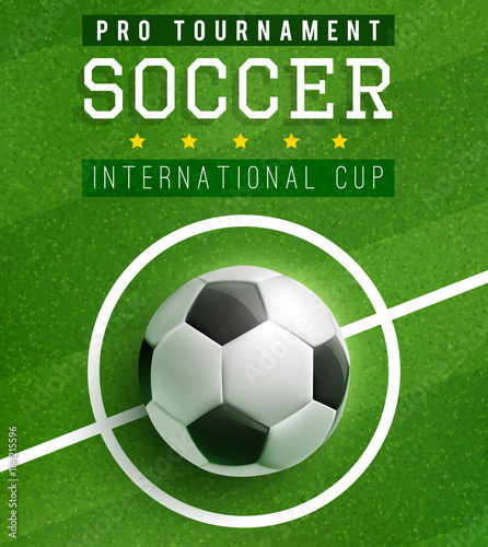 football match poster template with soccer ball buy this stock