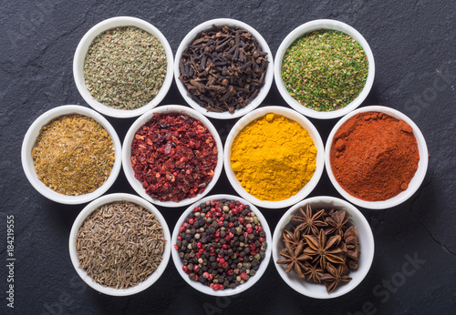 Canvas Prints Spices Colection of indian spices
