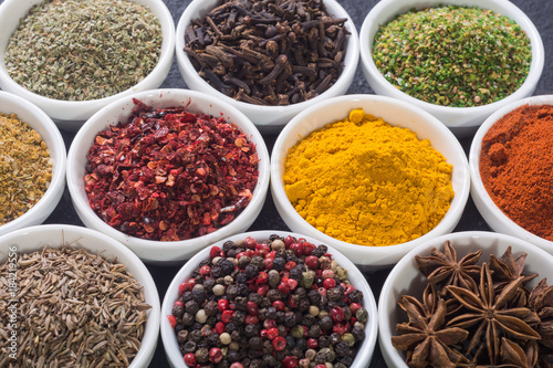 Staande foto India Colection of indian spices