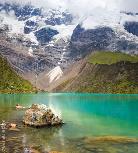 Fotografie, Obraz  Humantay lake in Peru on Salcantay mountain in the Andes