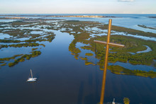 Aerial Image Of The Great Cross St Augustine FL