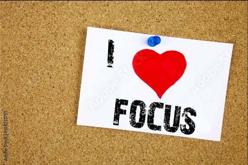 More Space More Attention More Success >> Hand Writing Text Caption Inspiration Showing I Love Focus Concept