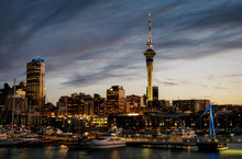 Auckland Skyline Sunset