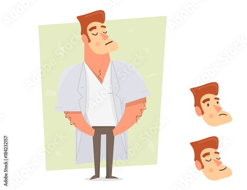 Sports guy character constructor Wallpaper Mural