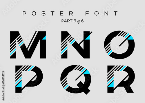 Valokuva  Vector Techno Font with Digital Glitch Text Effect