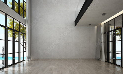 The interior design of modern empty lounge and living room and