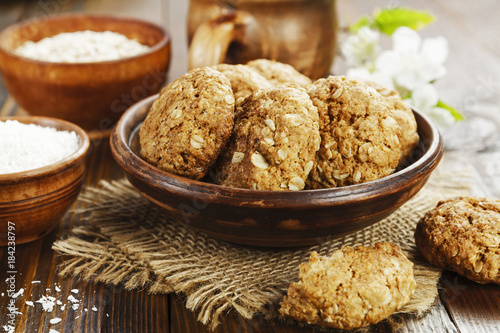 Biscuit Oatmeal cookies with coconut