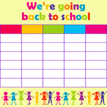 School Timetable With Stylized...