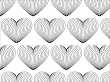 Pattern With Hearts. Vector Re...