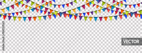 Fotografia  seamless garland background with vector transparency
