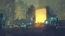 Night Scenery Of Futuristic Ci...