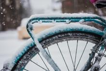 Bike On Snowy Weather