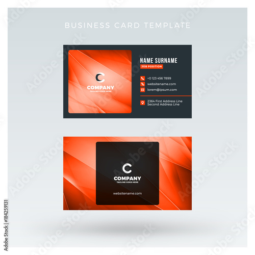 Creative and clean double sided business card vector template with creative and clean double sided business card vector template with abstract background red and accmission Choice Image