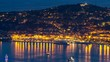 Yachts in port of Saint-Jean-Cap-Ferrat day to night timelapse, France