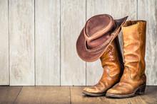 Wild West Retro Cowboy Hat And...