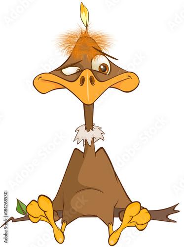 Papiers peints Chambre bébé Illustration of a Cute American Condor Cartoon Character