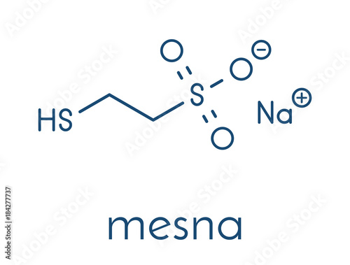 Mesna cancer chemotherapy adjuvant and mucolytic drug molecule Canvas Print