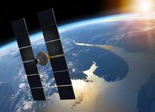 Space Satellite Orbiting Plane...