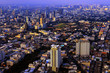 Bangkok cityscape bird eye view,Thailand