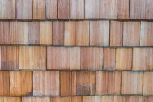 Wooden Larch Shingles On Roof ...