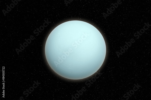 Deurstickers Nasa Uranus planet in outer space. Elements of this image furnished by NASA