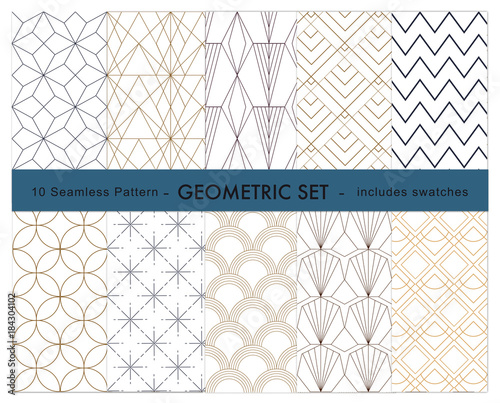10 geometric pattern  swatches included Canvas Print