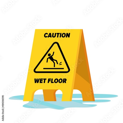 Wet Floor Vector Fototapeta