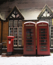 Typical Red Telephone Boxes An...