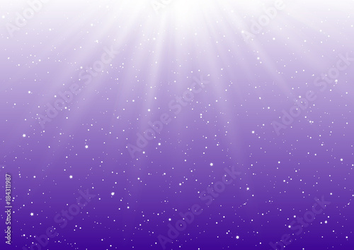 Fotografia  Abstract sunny lights on purple background