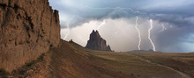 A Violent Thunderstorm At Shiprock, New Mexico