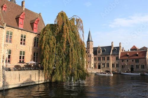 Wall Murals Bridges Canal in Brugge, Belgium
