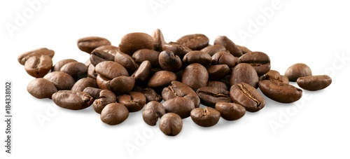 Staande foto Koffiebonen Coffee Beans isolated on white